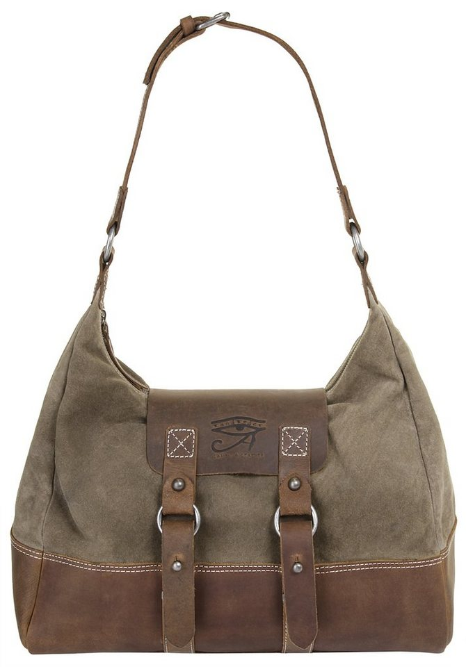 Landleder Leder Damen Handtasche »Legend of Leather« in braun