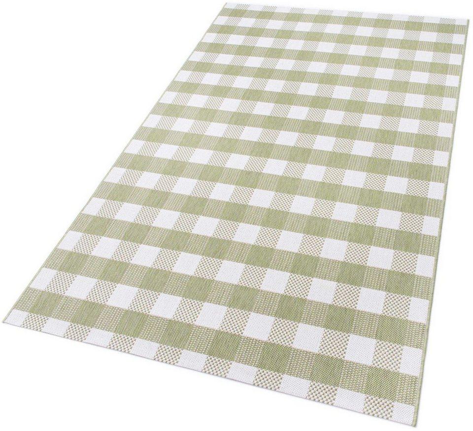 Teppich, Teppich Kontor Hamburg, »Karol«, maschinengewebt, Outdoor geeignet, sehr Strapazierfähig in grün