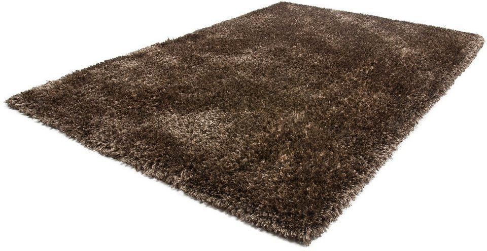Hochflor-Teppich, Obsession, »Precious 676«, Höhe 55 mm, handgearbeitet in Nougat