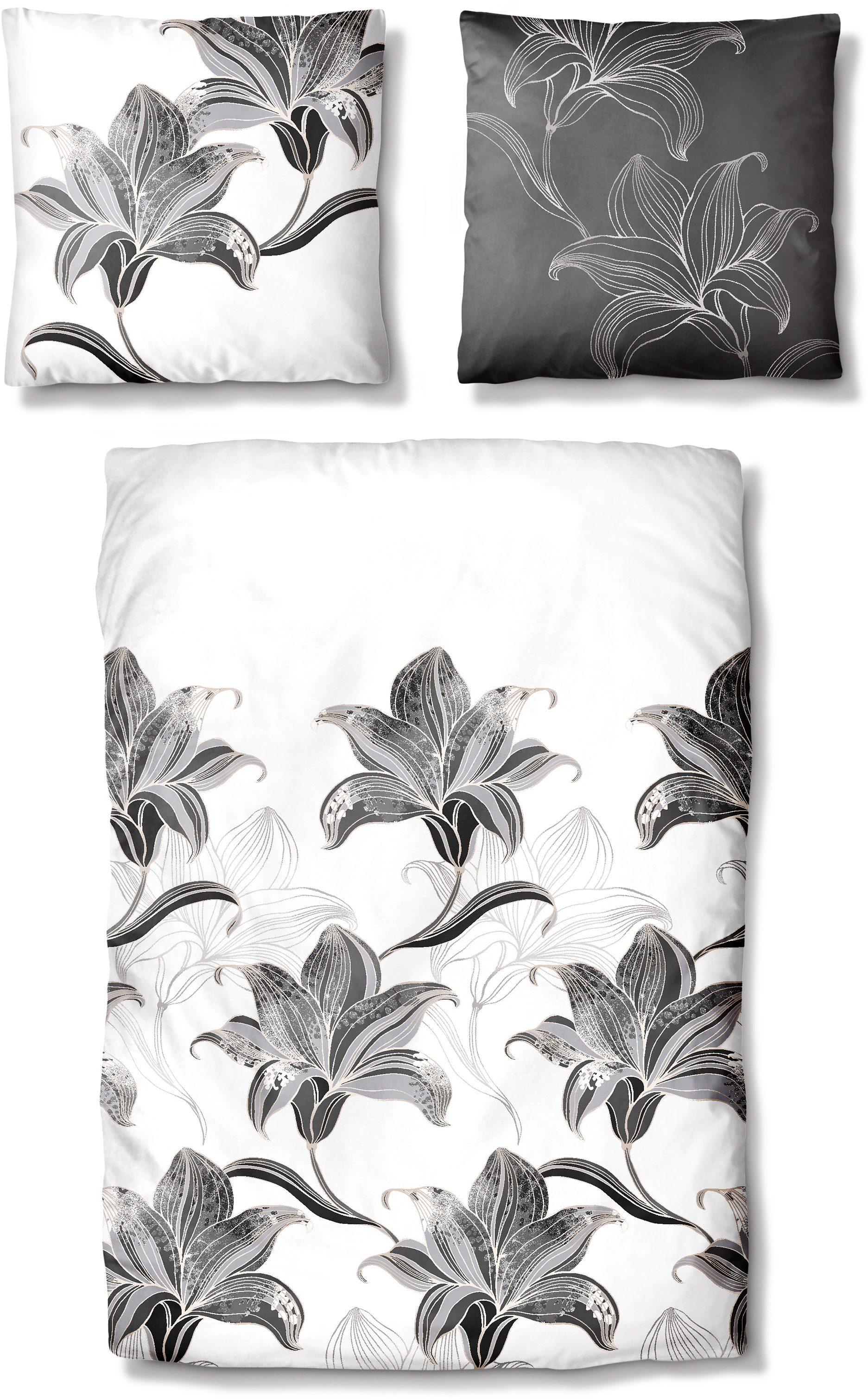 Bettwäsche, Auro Hometextile, »Flower Elegance«, mit großen Blüten