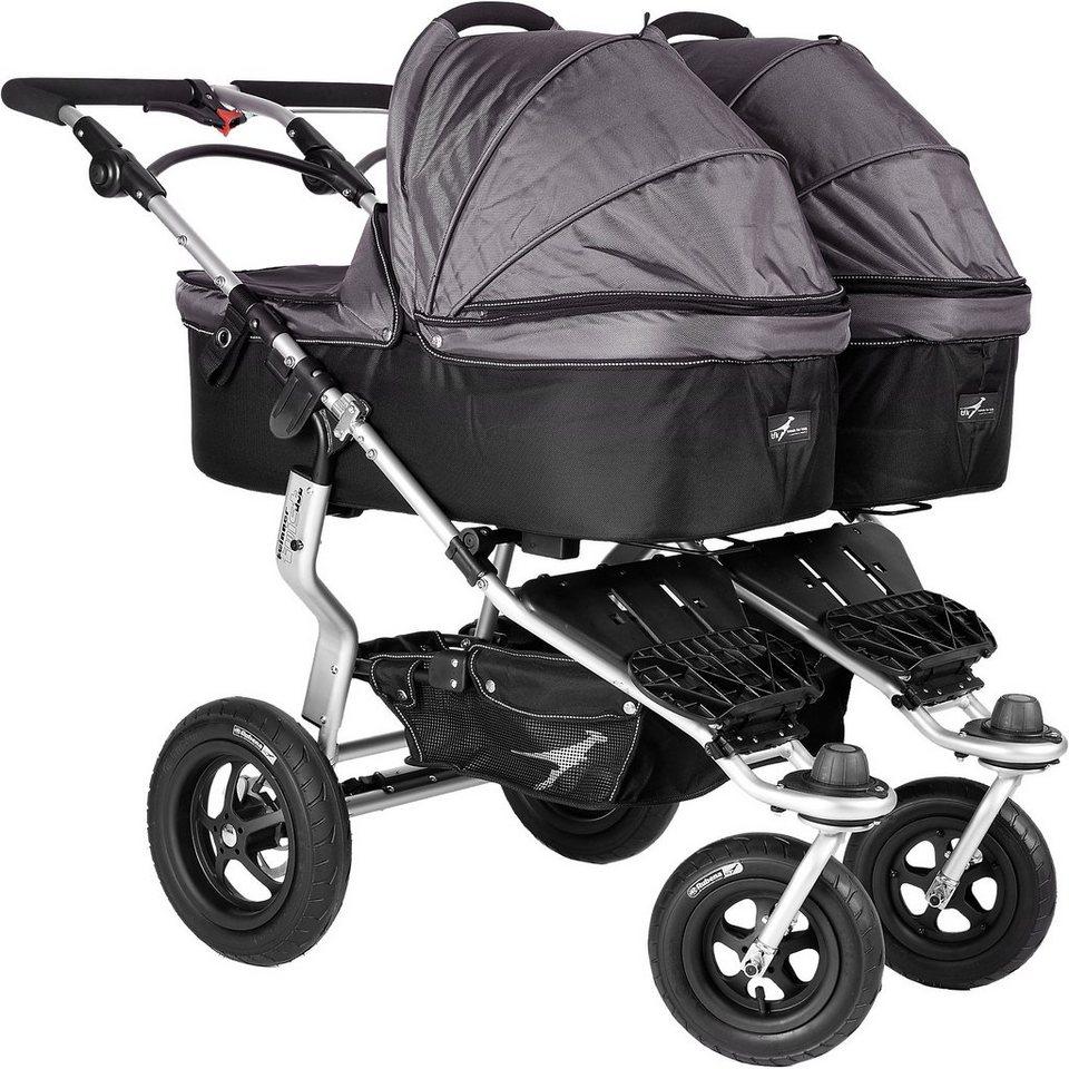 TFK Kinderwagenaufsatz für Twinner Twist Duo, grau in grau