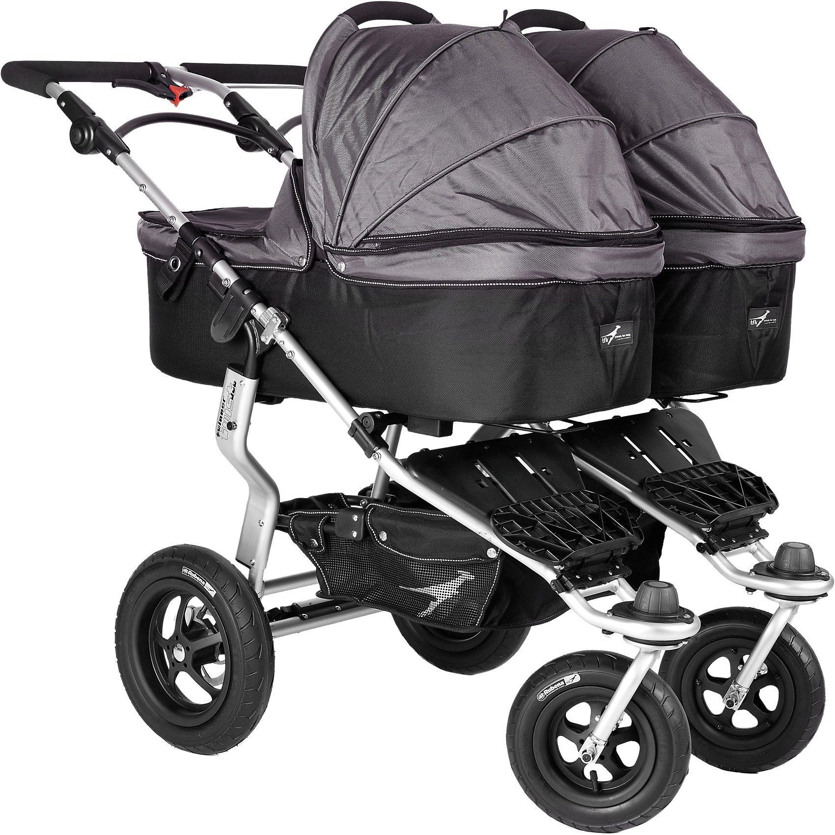 TFK Kinderwagenaufsatz für Twinner Twist Duo, grau