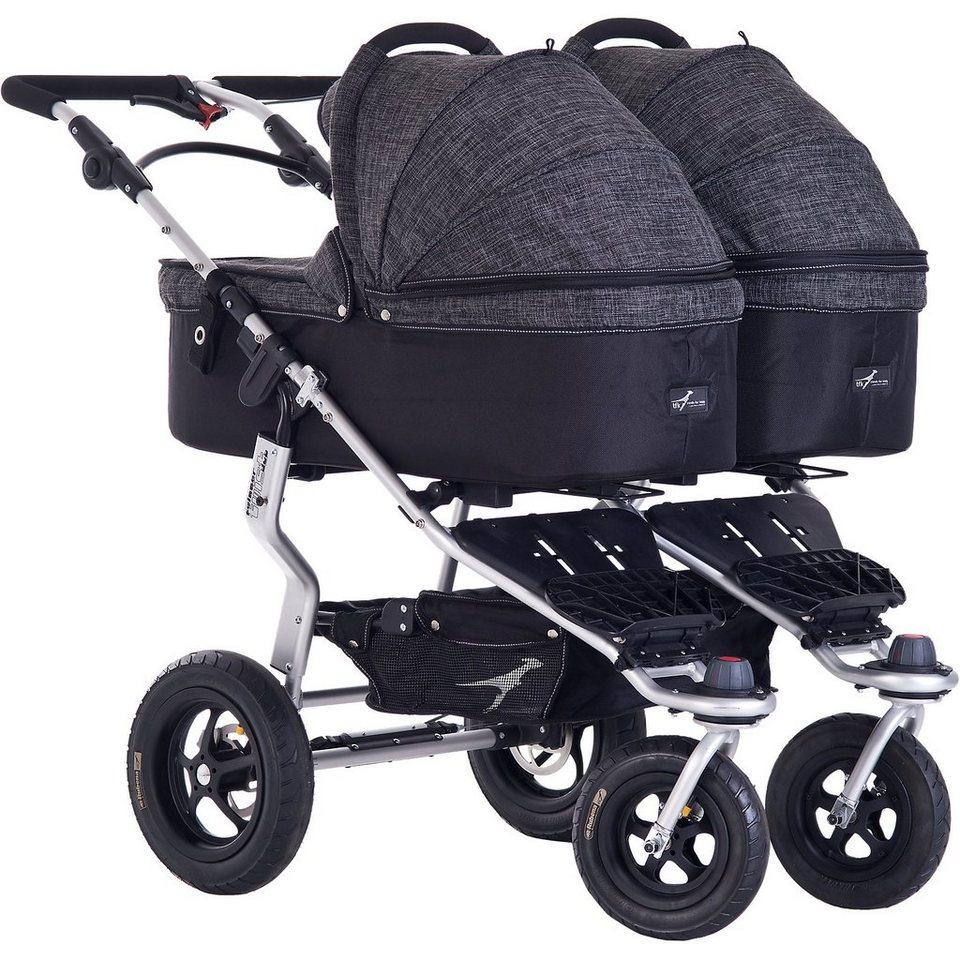 TFK Kinderwagenaufsatz für Twinner Twist Duo, Premium, anthrazit in grau