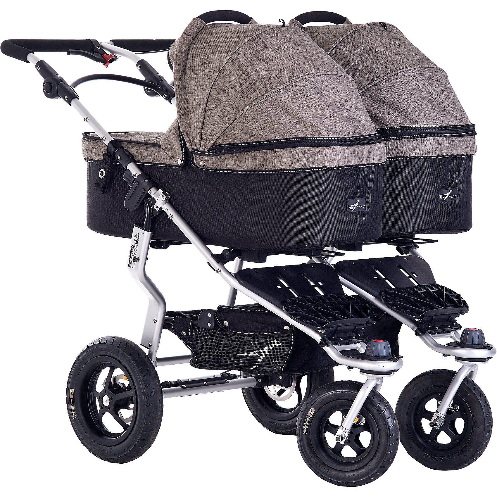 TFK Kinderwagenaufsatz für Twinner Twist Duo, Premium, schlamm