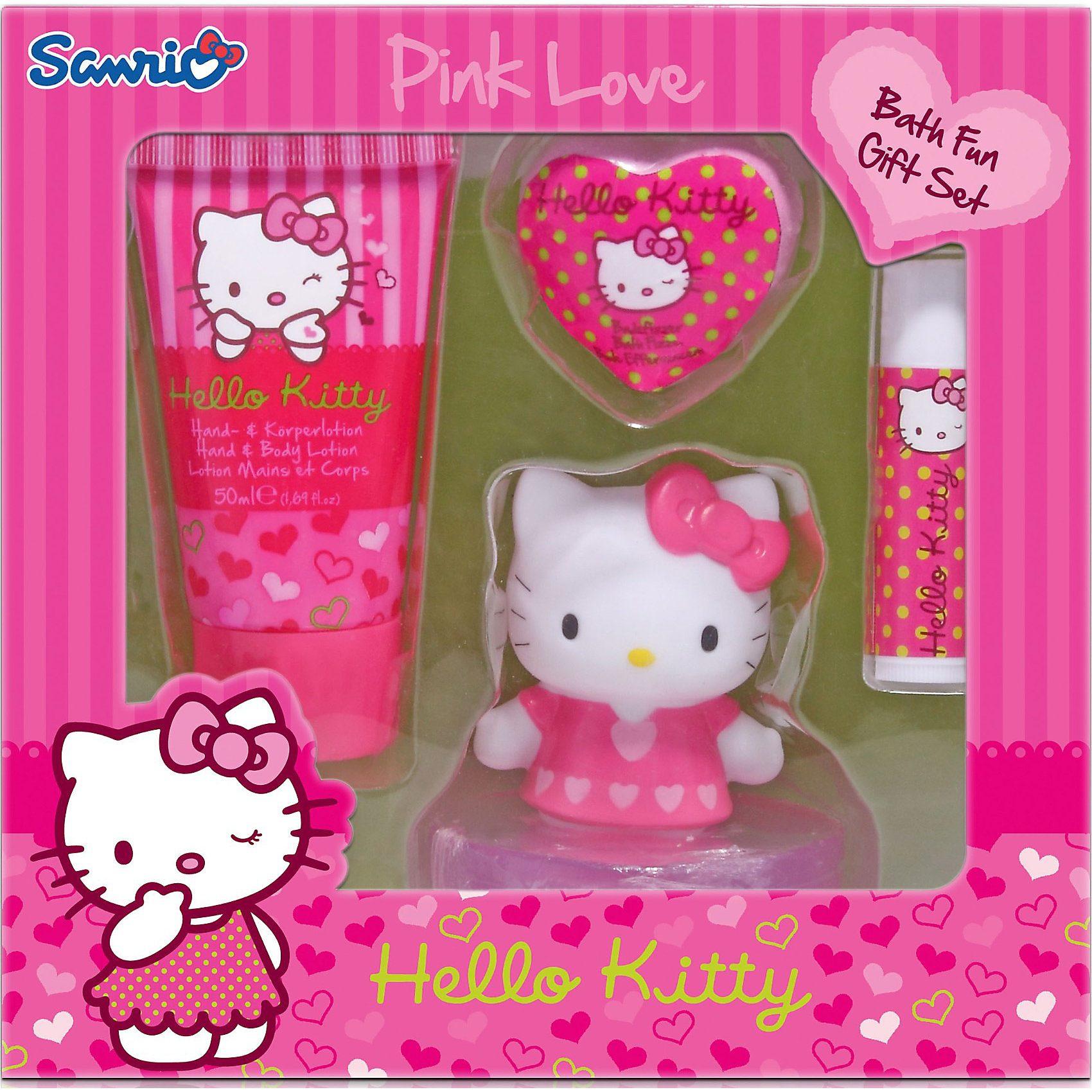 Badespaß Geschenkset, Hello Kitty, 4-tlg.