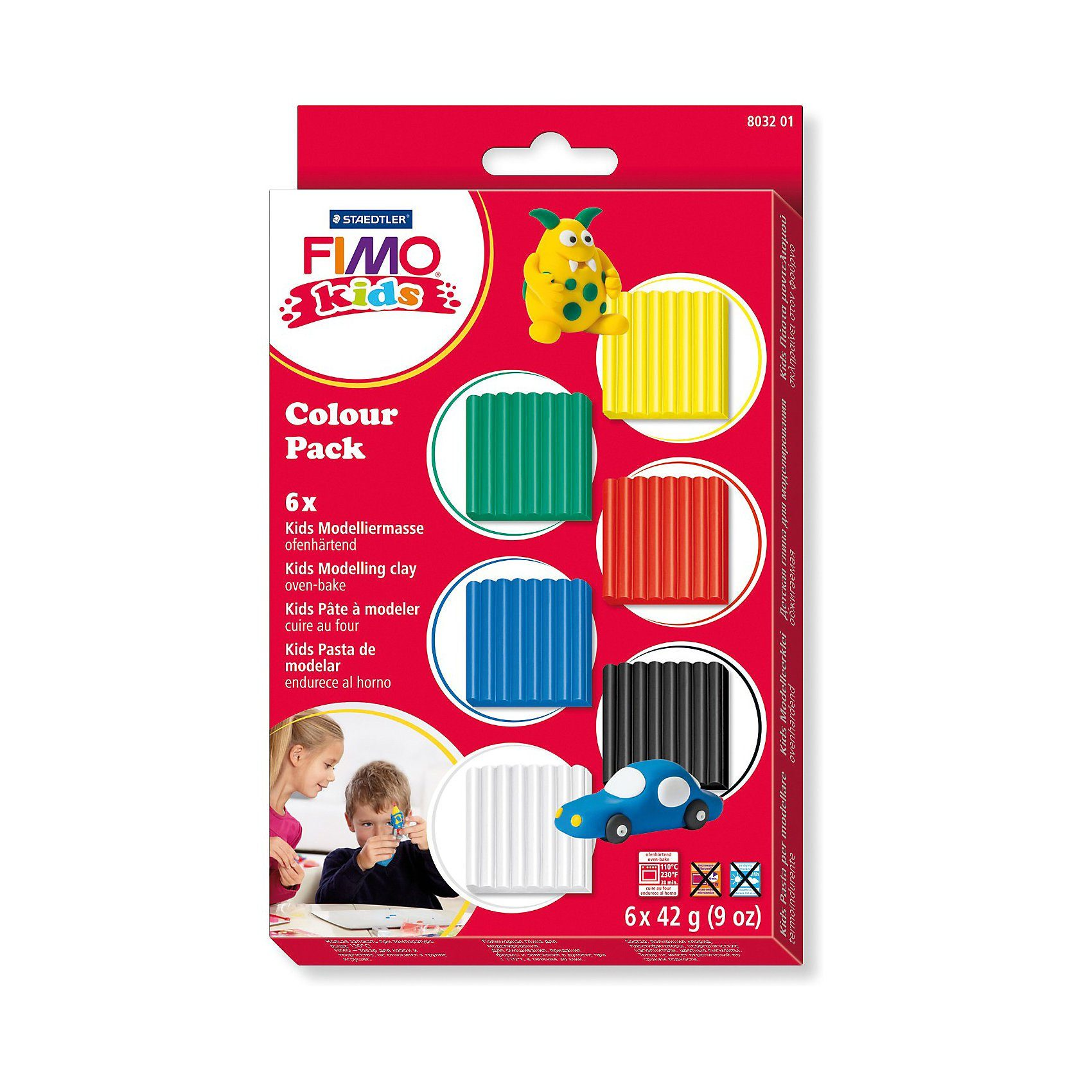 FIMO kids Materialpackung basic, 6 x 42 g