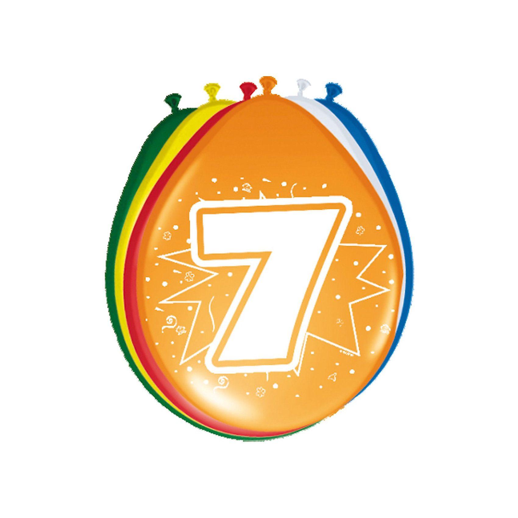 Zahlenluftballon 7, 8-tlg.