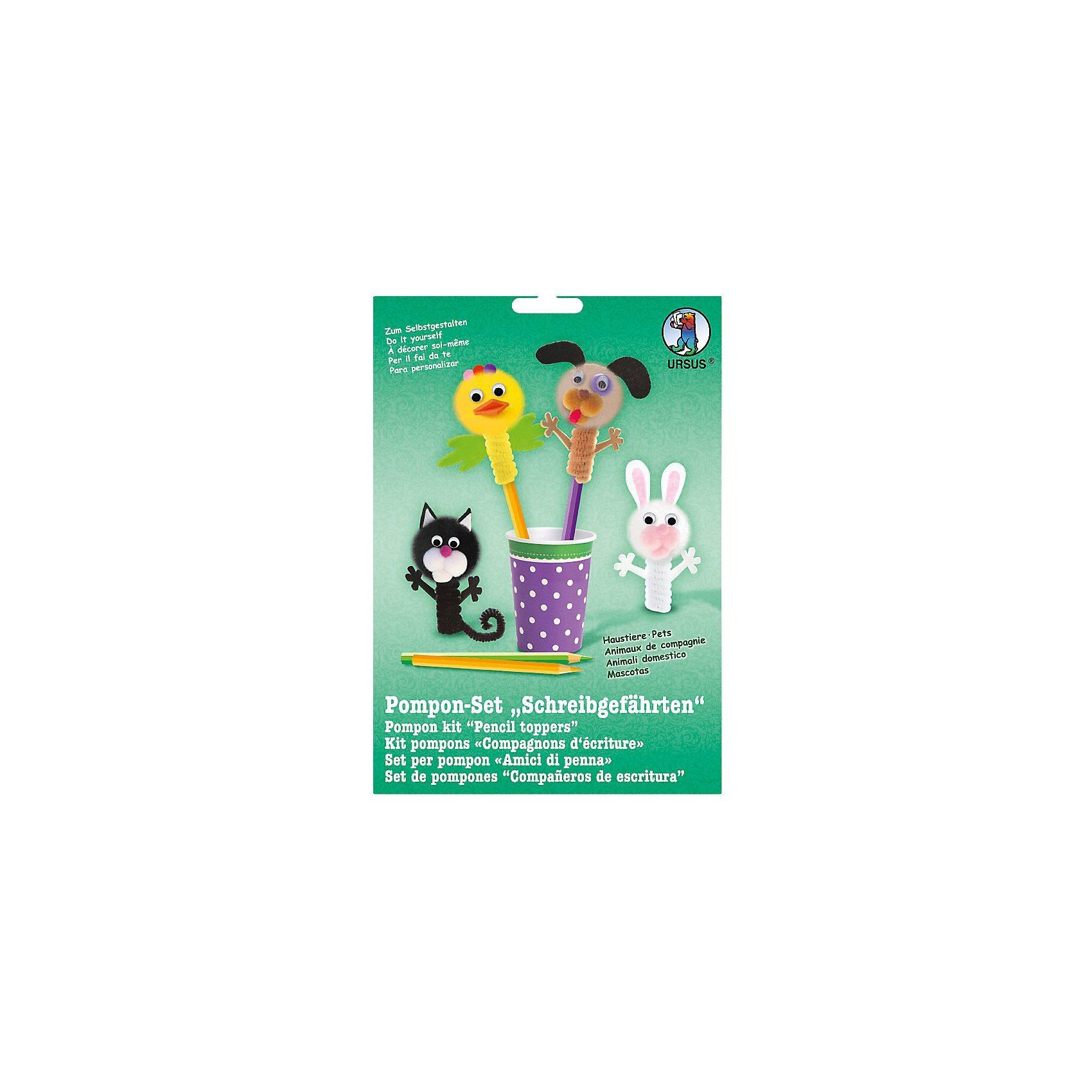 URSUS Pomponset Schreibgefährten Haustiere, 4 Figuren