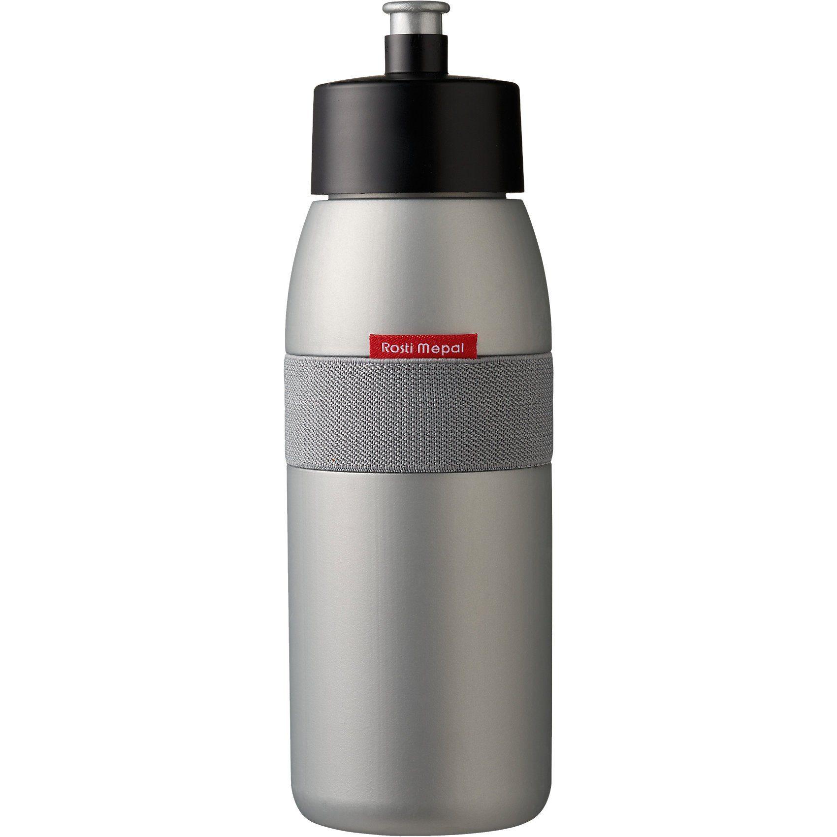 Trinkflasche ellipse silber, 500 ml