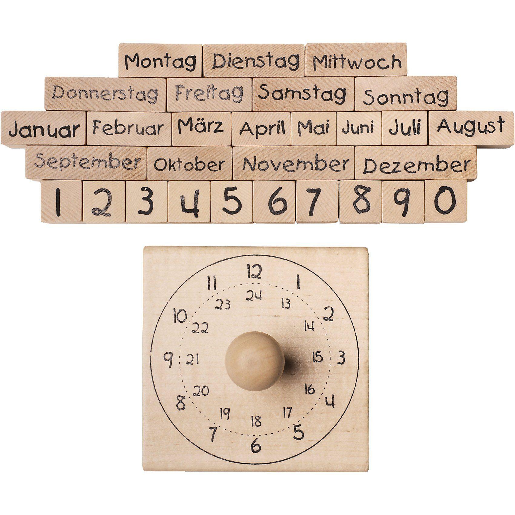 SUNNYSUE XL-Holzstempelset Kalender, 30-tlg.