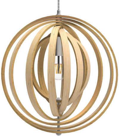 Tomons LED Pendelleuchte »Pendelleuchte Holz im Mobilé-Stil, Energieklasse A++«, Hängeleuchte, für Restaurants, Bars und Ihr Zuhause