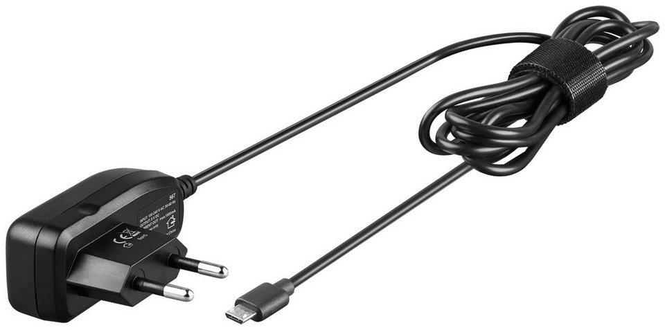 goobay Micro-USB Ladegerät »Ersatznetzteil für viele Kleingeräte/Handys« in schwarz