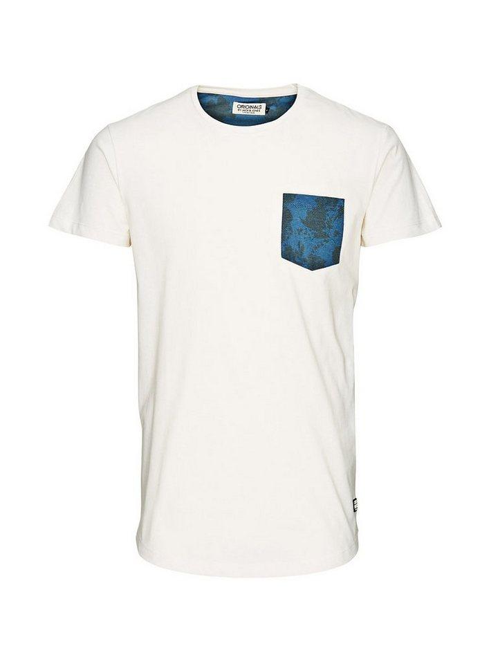 Jack & Jones Florales Detail T-Shirt in Cloud Dancer
