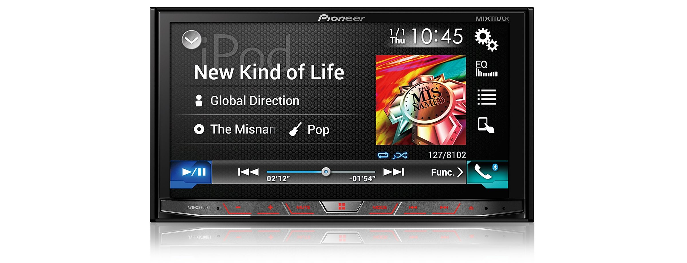 PIONEER 2-DIN Bluetooth Weitwinkel-Touchscreen Multimedia-Moniceiver »AVH-X8700BT«