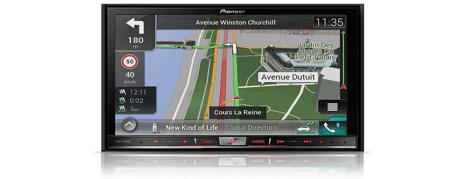 PIONEER 2-DIN Mediacenter mit Navigation »AVIC-F70DAB« in schwarz