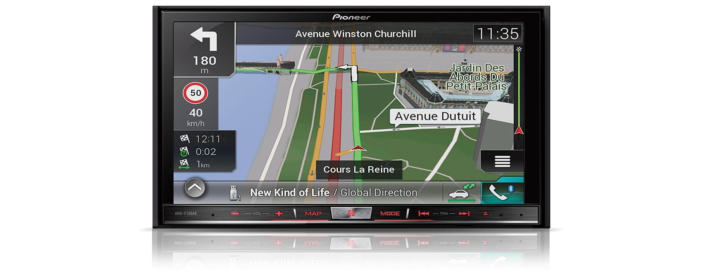 PIONEER 2-DIN Mediacenter mit Navigation »AVIC-F70DAB«