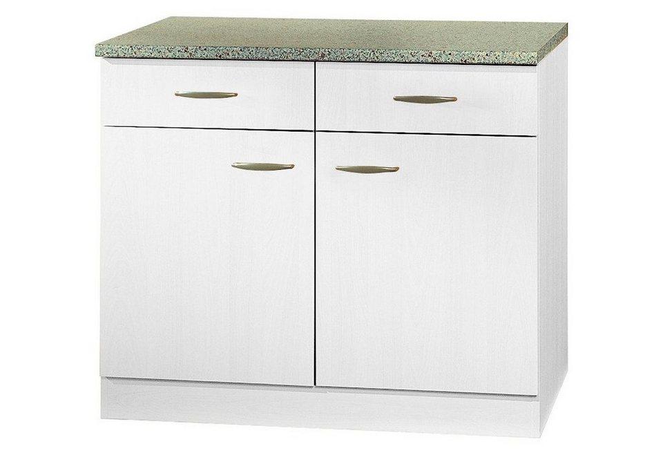 Küchenunterschrank »Valencia«, B/T/H: 100/50/85 cm in weiß