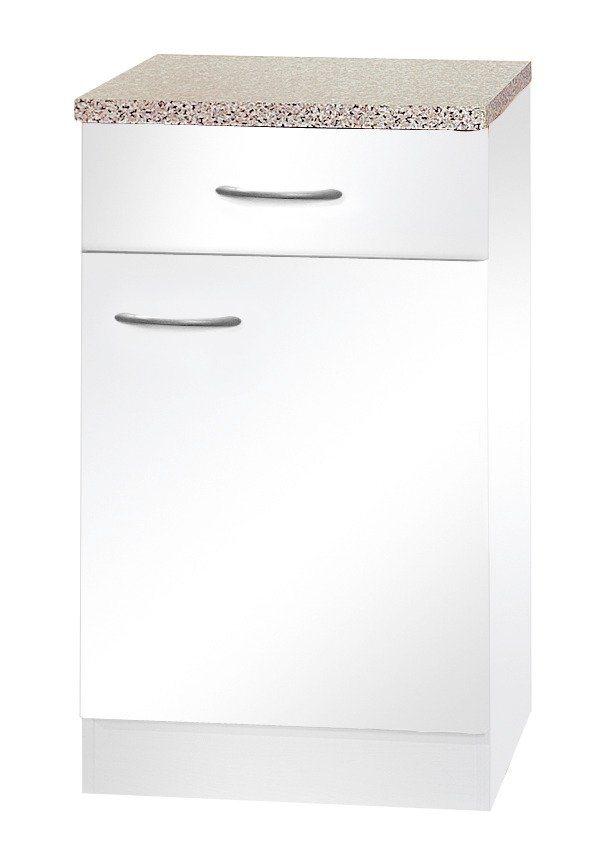 Küchenunterschrank »Valencia«, B/T/H: 50/50/85 cm in weiß