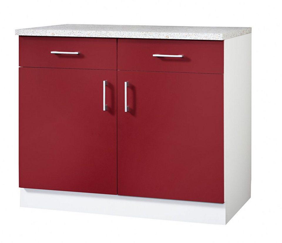Wiho Küchen Küchenunterschrank »Valencia«, Breite 100 cm online kaufen |  OTTO