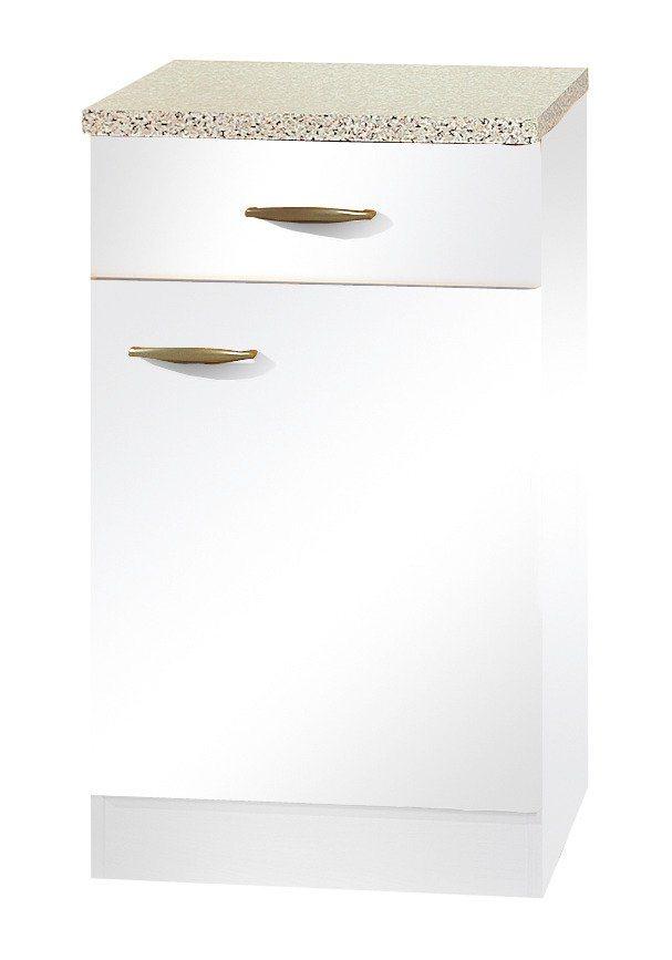 Küchenunterschrank »Valencia«, B/T/H: 50/60/85 cm in weiß