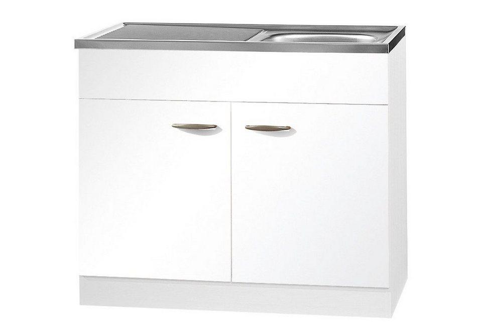 Spülenschrank »Valencia«, B/T/H: 100/50/85 cm in weiß