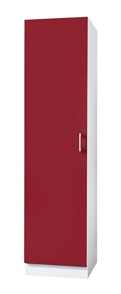 Wiho Küchen Vorratsschrank »Valencia«, B/T/H: 50/60/200 cm online ... | {Vorratsschrank küche weiß 64}