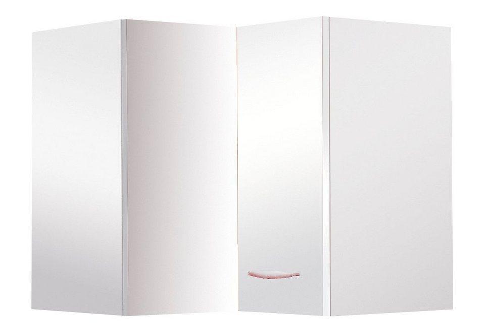 Eck-Hängeschrank »Valencia«, Breite 60 x 60 cm in weiß