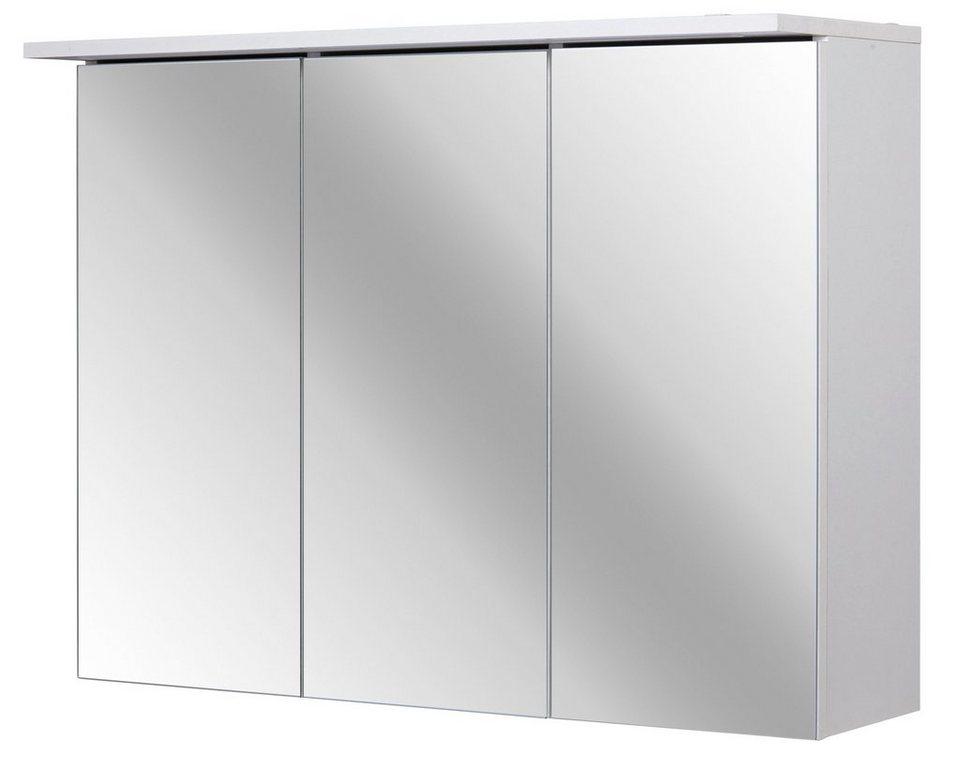 Spiegelschrank »Flex« Breite 80 cm, mit LED-Beleuchtung in weiß