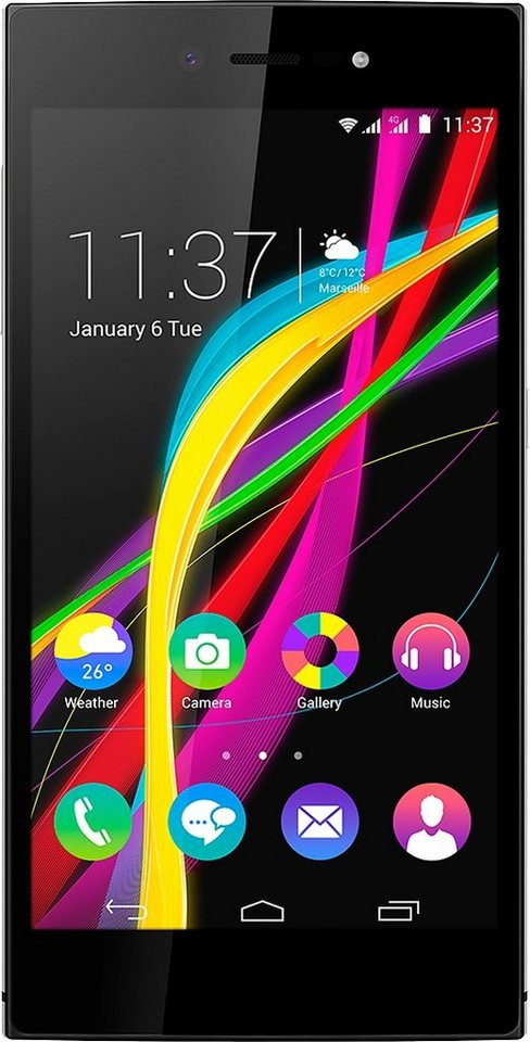 Wiko Highway Star 4G Smartphone, 12,7 cm (5 Zoll) Display, LTE (4G), Android 4.4.4, 13,0 Megapixel in silberfarben