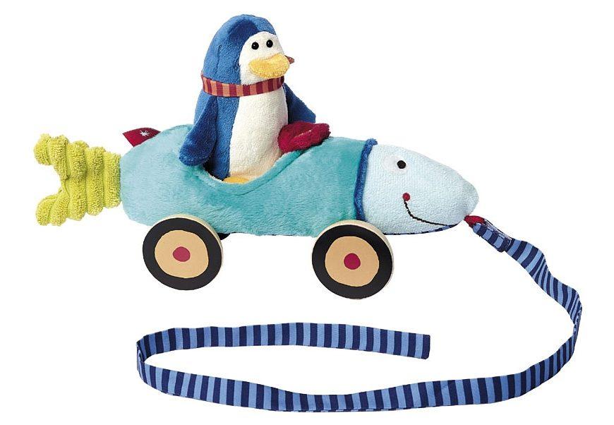 sigikid® Nachziehtier, »Fischmobil mit Pinguin«
