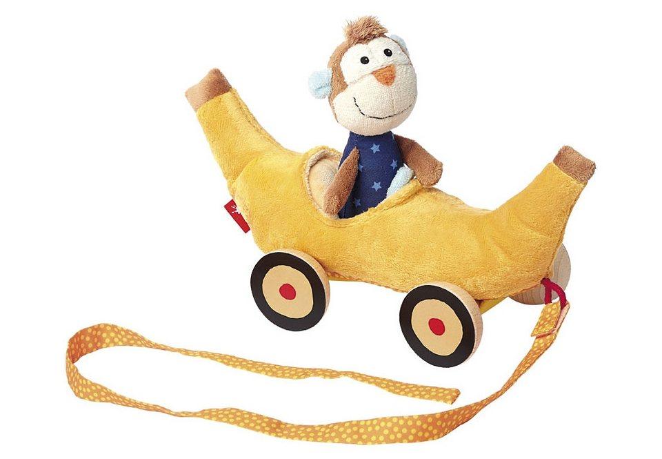 sigikid® Nachziehtier, »Bananenmobil mit Affe«