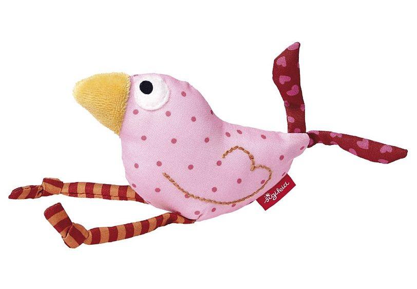 sigikid® Greifling rosa, »Quietsch Quatsch - Vogel« in rosa