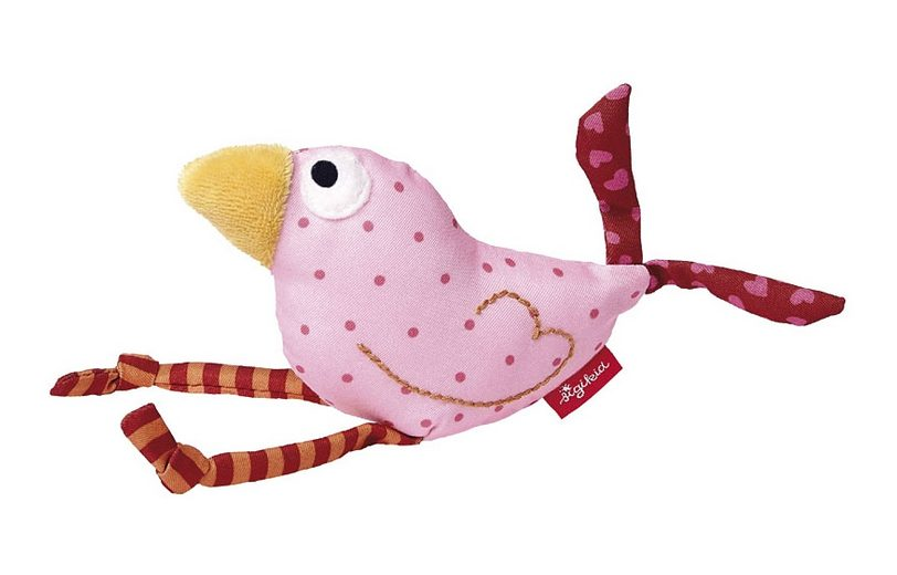 sigikid® Greifling rosa, »Quietsch Quatsch - Vogel«