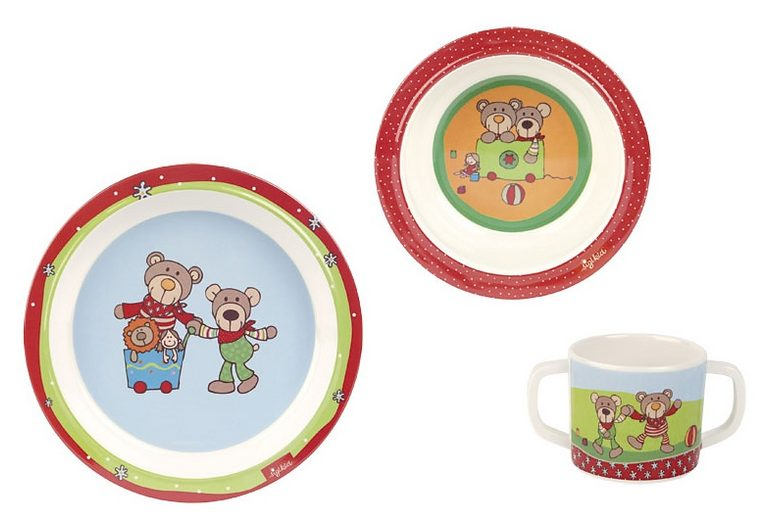 sigikid® Kindergeschirr Set, »Wild & Berry Bear«