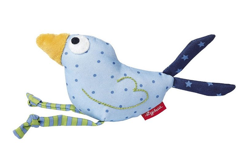 sigikid® Greifling blau, »Quietsch Quatsch - Vogel«