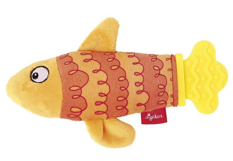 sigikid® Greifling orange, »Rassel-Quassel Beißring Fisch« in orange