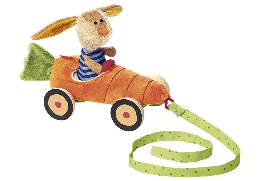 sigikid® Nachziehtier, »Karottenmobil mit Hase«