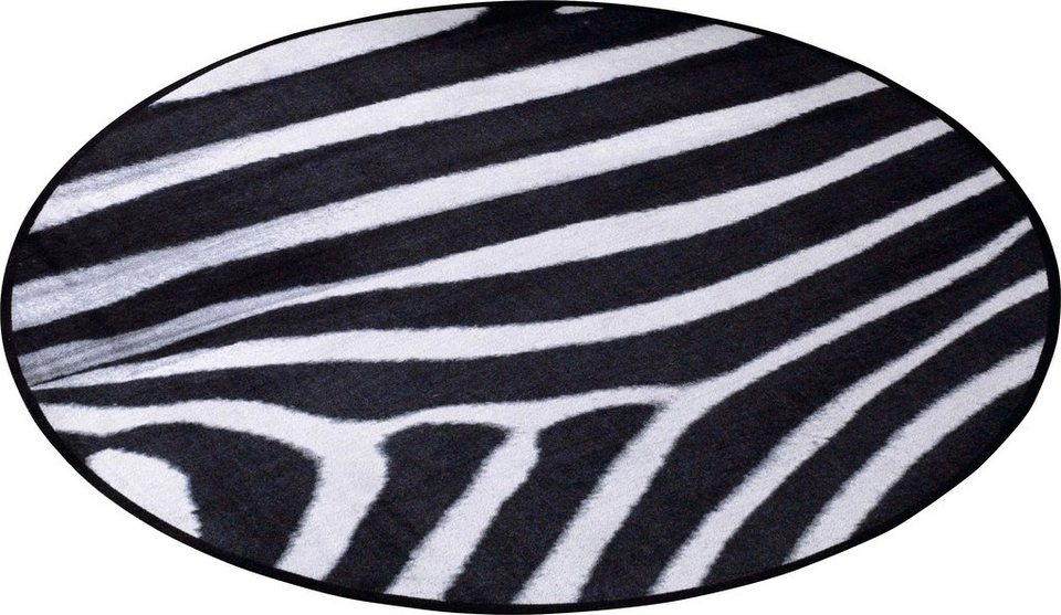 teppich zala living animal print zebra in fell optik. Black Bedroom Furniture Sets. Home Design Ideas