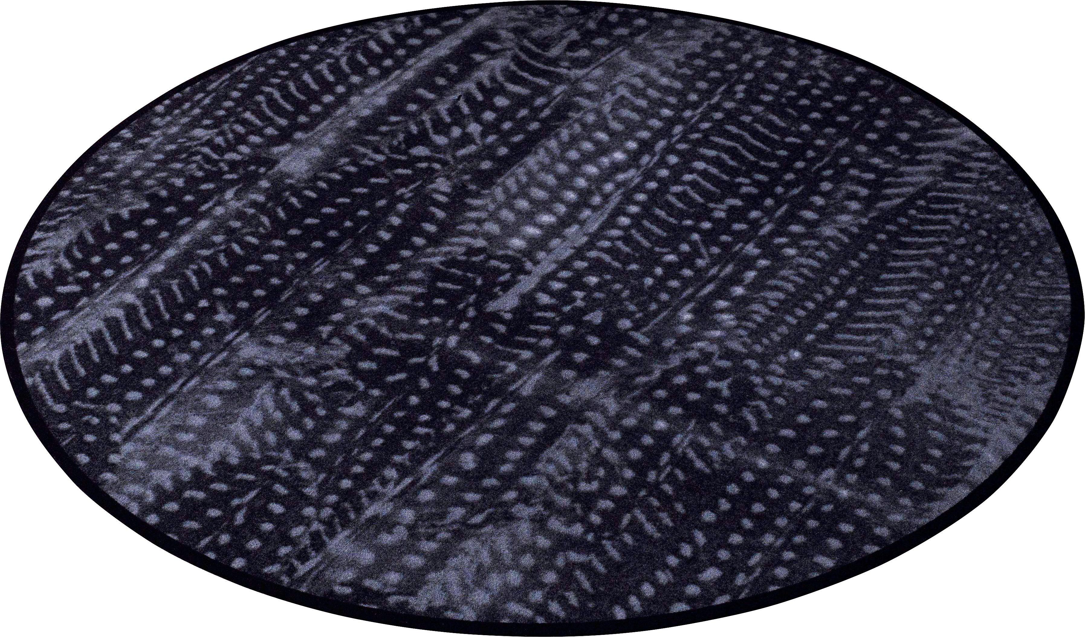 Teppich, Zala Living, »Animal Print Feder« in Fell-Optik, rund