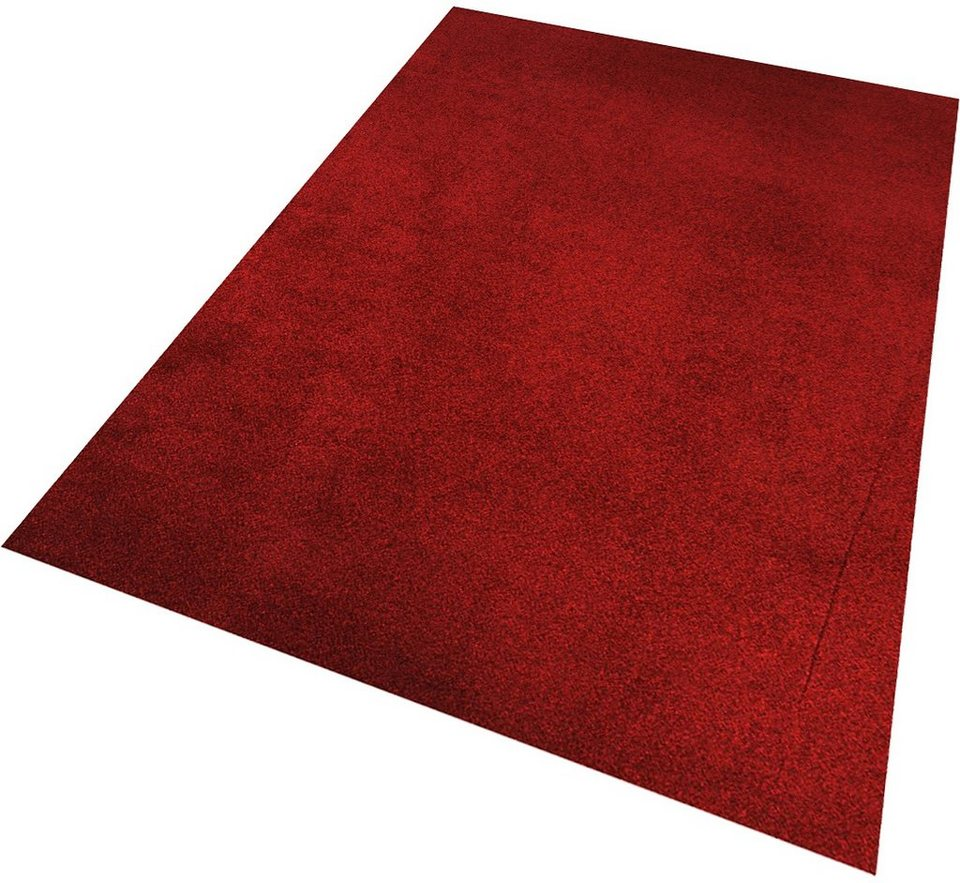 Teppich, Living Line, »Buffalo«, Velour in rot