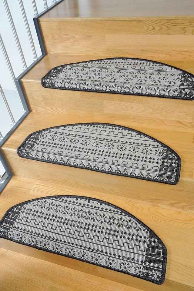 Stufenmatte, Living Line, »Elvet«, Sisaloptik, 15 Stück in anthrazit