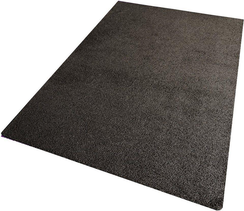 Hochflor-Teppich, Living Line, »Amarillo«, Höhe 35 mm in schlammbraun