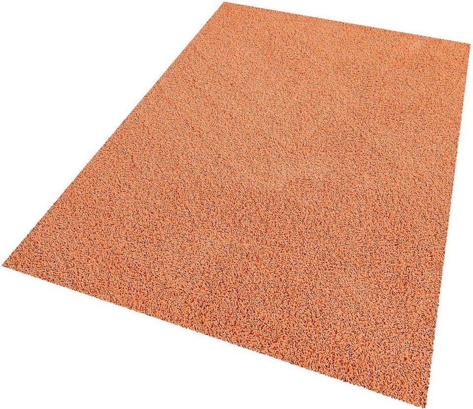 Hochflor-Teppich, Living Line, »Amarillo«, Höhe 35 mm in orange