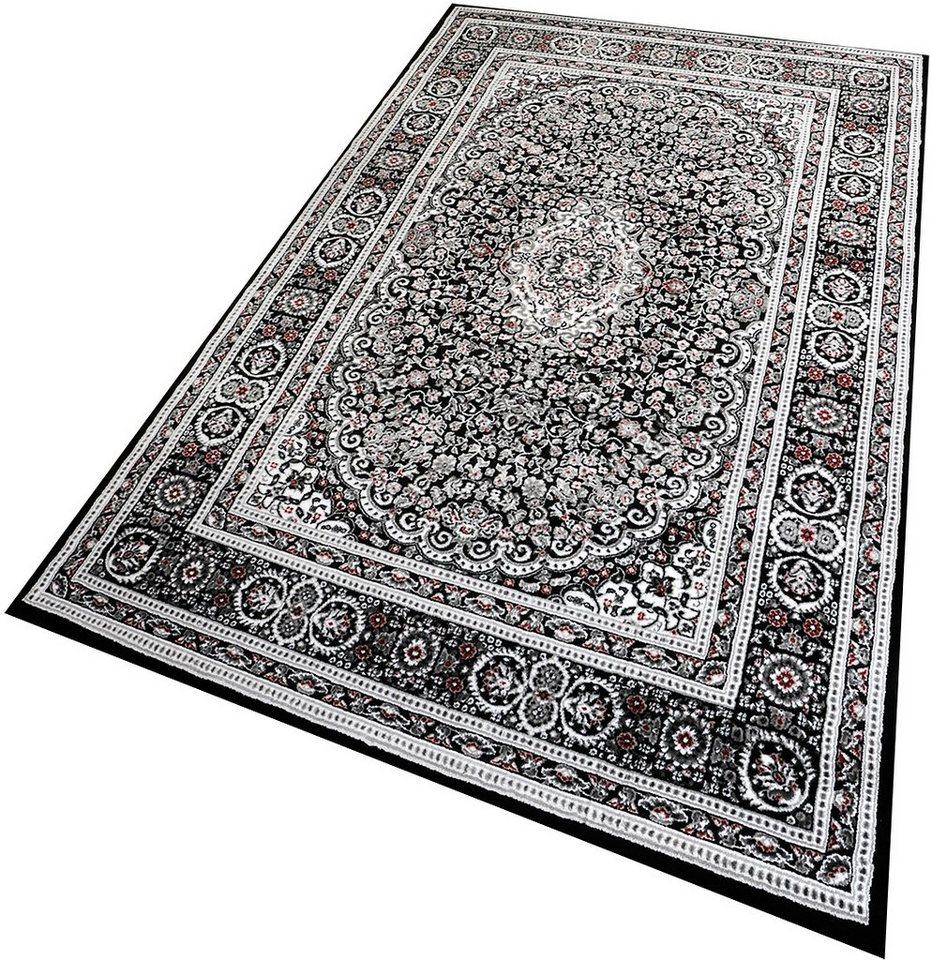 Teppich, Living Line, »Omega«, gewebt in schwarz