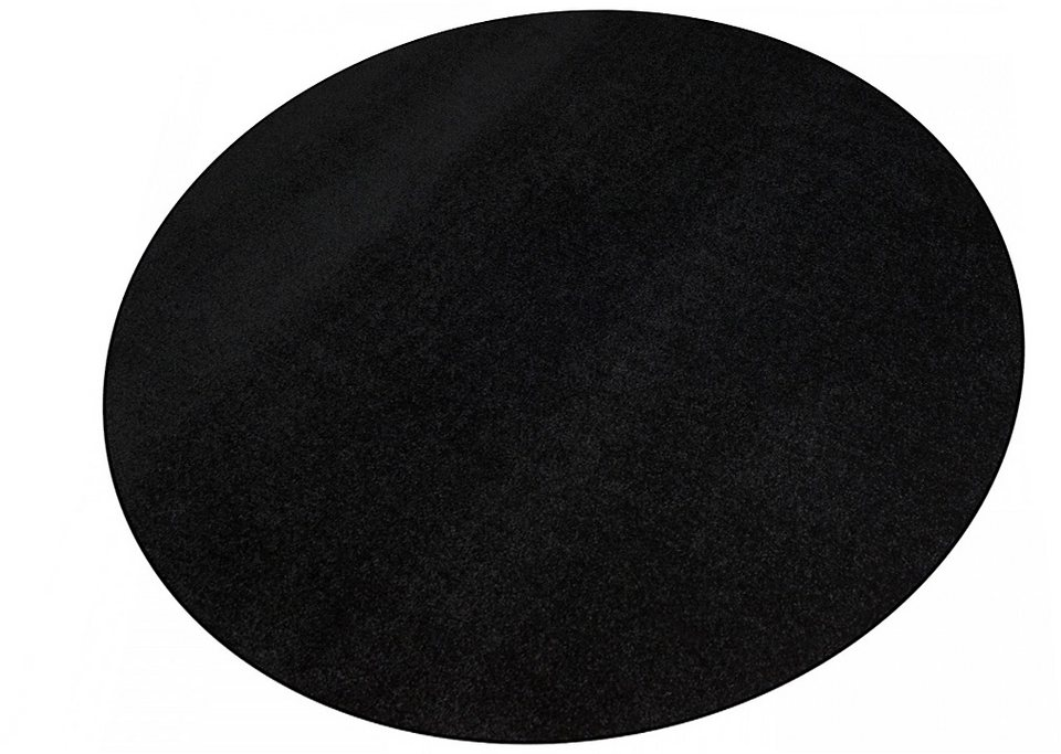 Teppich, Rund, Living Line, »Trend«, Velours in schwarz