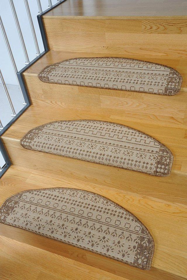 Stufenmatte, Living Line, »Elvet«, Sisaloptik, 15 Stück in braun