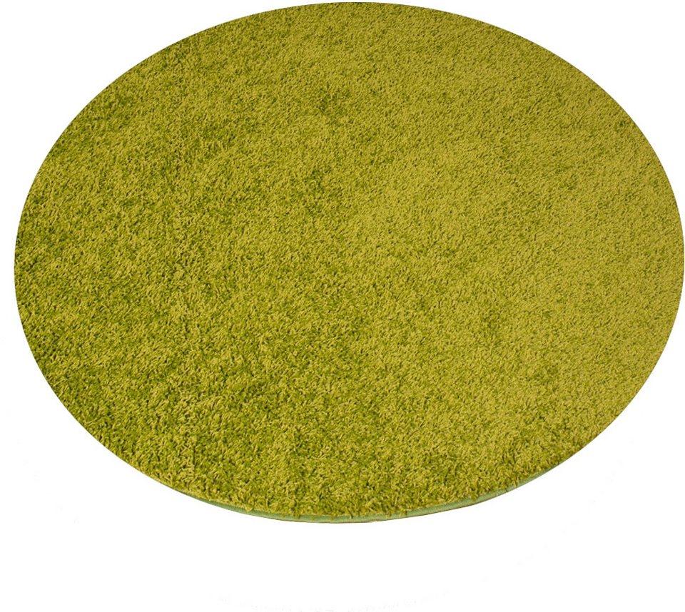 hochflor teppich living line rund amarillo h he 35. Black Bedroom Furniture Sets. Home Design Ideas