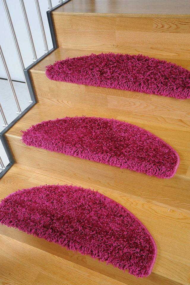 Stufenmatte, Living Line, »Amarillo«, Hochflor, 15 Stück in pink