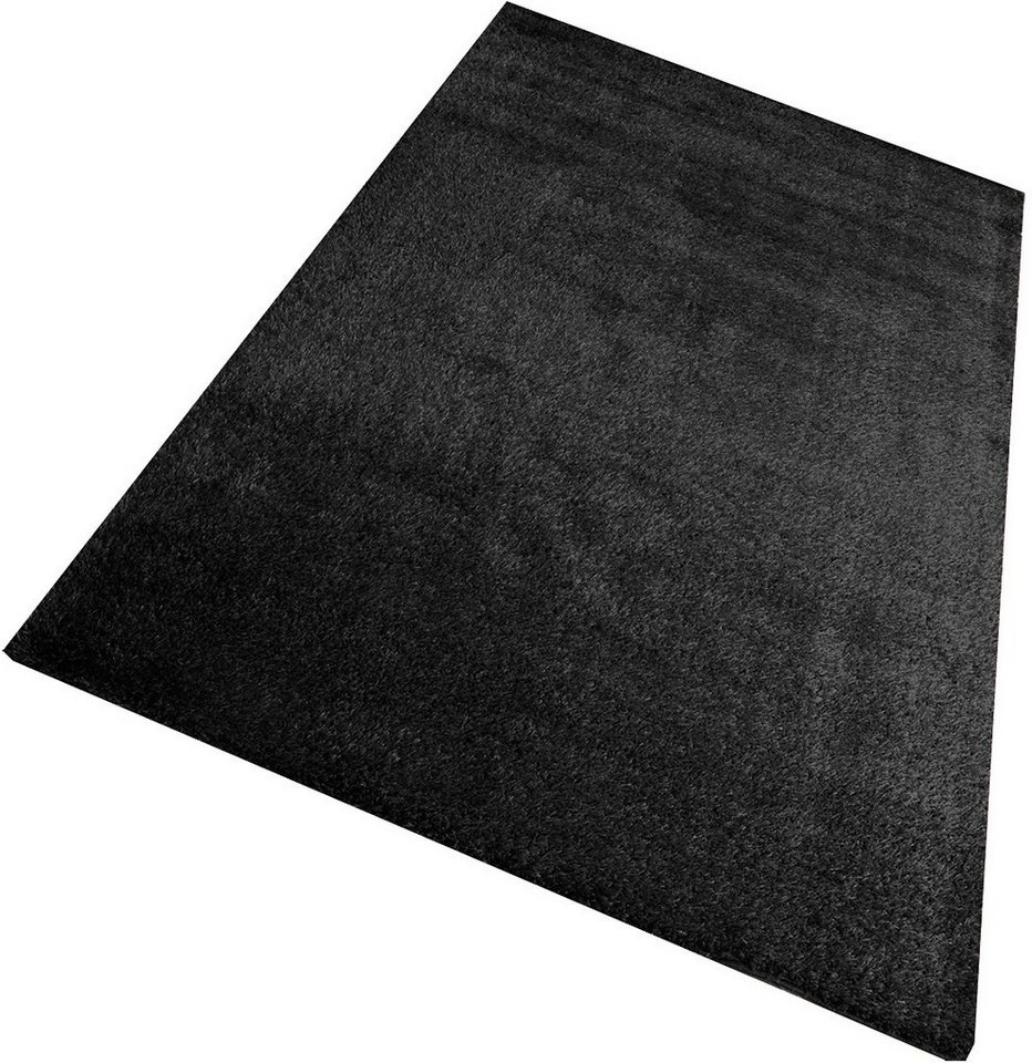 Hochflor-Teppich, Living Line, »Loredo«, Höhe 30 mm in schwarz