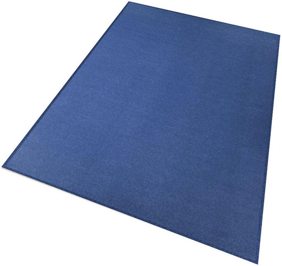Teppich, Living Line, »Trend«, Velour in blau